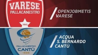 Openjobmetis Varese - Acqua S.Bernardo Cantù 80-90