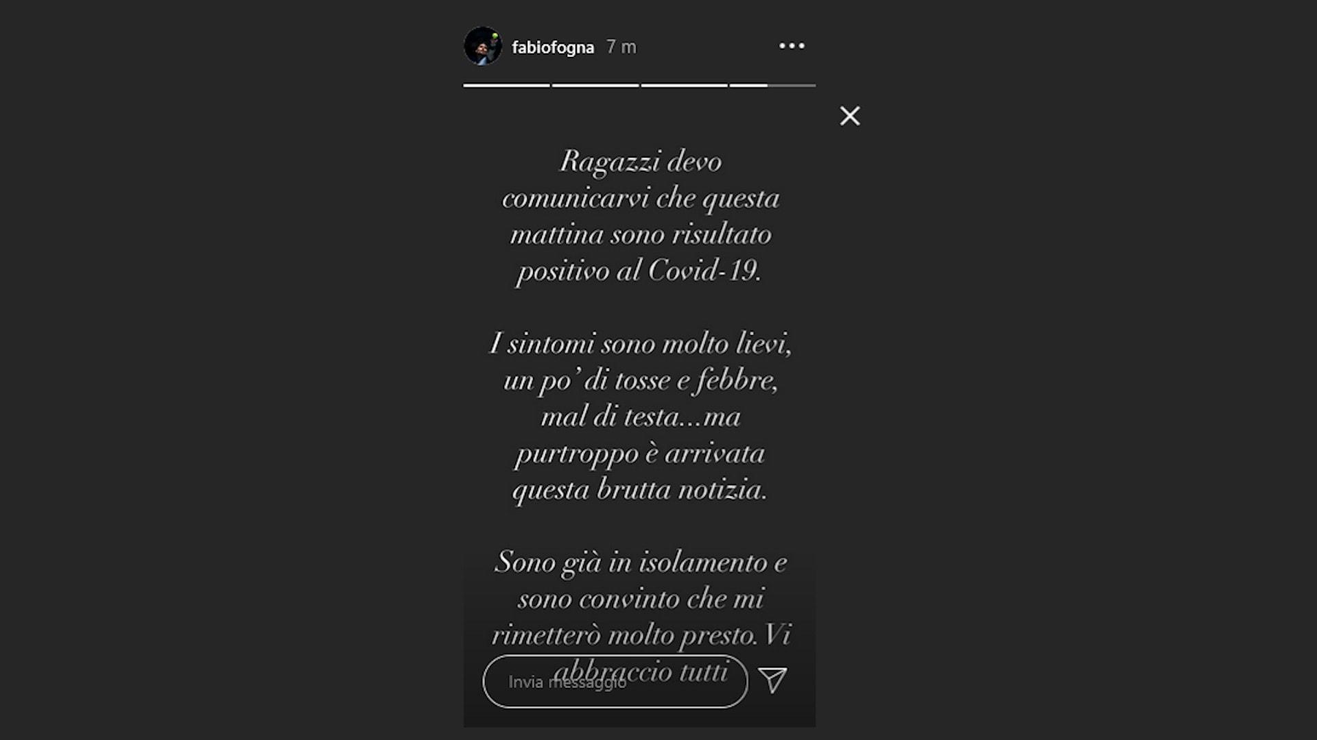 Tennis: Fabio Fognini positivo al Coronavirus