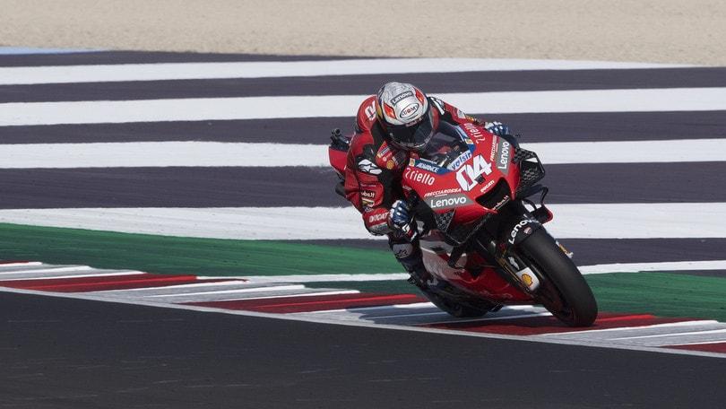 Gp Aragon: Morbidelli il più veloce nelle quarte libere, Dovizioso 9°