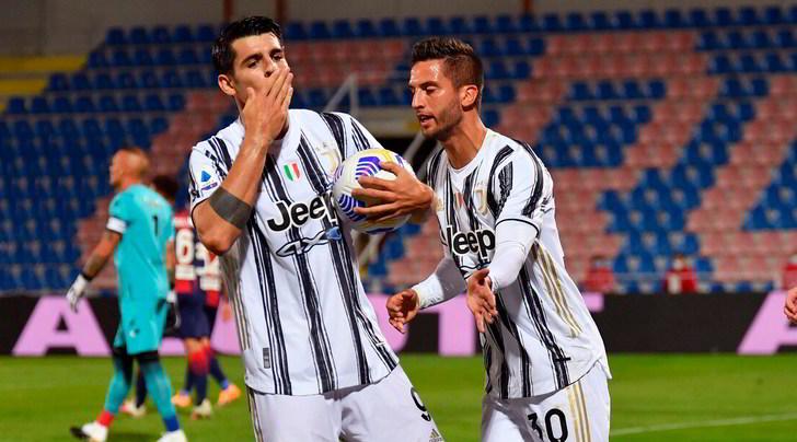 Crotone-Juve 1-1: Morata non basta, espulso Chiesa
