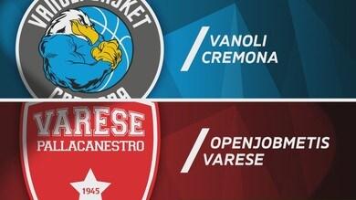 Vanoli Basket Cremona - Openjobmetis Varese 80-67