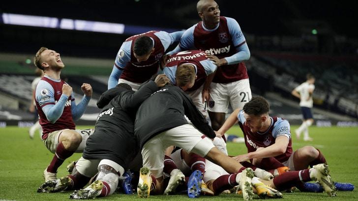 Mourinho rimontato da 3-0 a 3-3! Il Tottenham subisce 3 gol in 12' dal West Ham