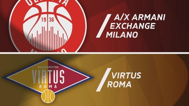 A X Armani Exchange Milano - Virtus Roma 93-71