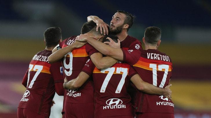 Roma-Benevento 5-2, il tabellino