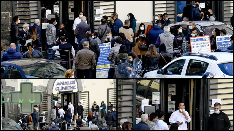 Coronavirus, a Napoli lunghe file per effettuare il tampone: che caos!