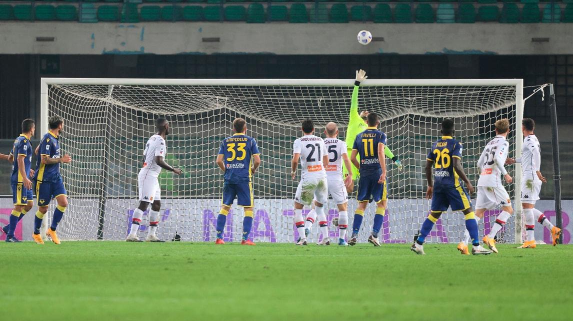Perin le para tutte: il Genoa rimaneggiato resiste a Verona