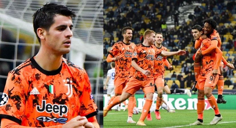 Morata, che doppietta in Champions: la Juve vince a Kiev