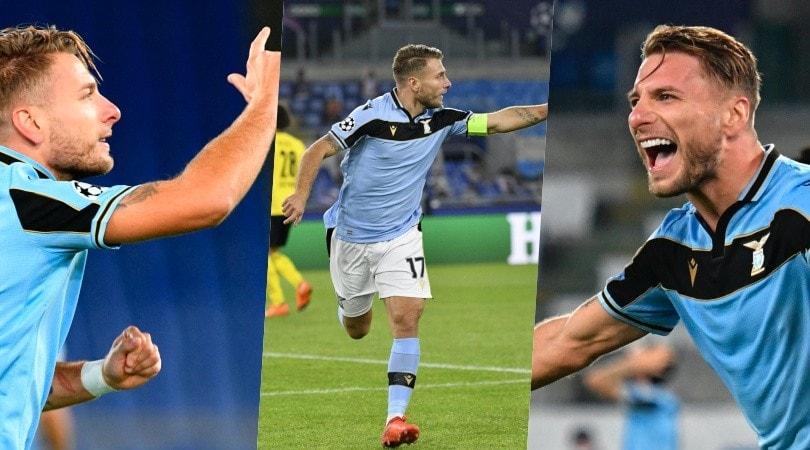 Lazio super con il Borussia Dortmund: Immobile si scatena dopo il gol