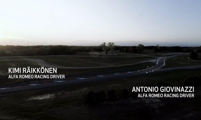 Giulia GTA, Raikkonen e Giovinazzi mettono a punto assetto e aerodinamica  VIDEO