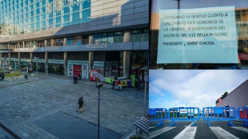 Coronavirus, a Torino clima da lockdown: centri commerciali chiusi