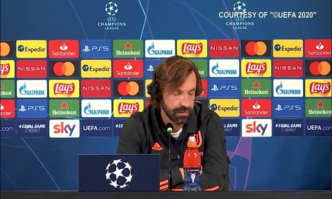 """Pirlo: """"Situazione difensori? Chiellini e De Ligt no, Bonucci valuteremo"""""""