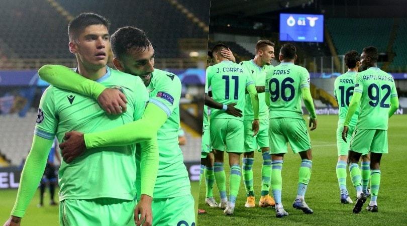 Correa gol, punto prezioso: la Lazio con il Bruges fa 1-1