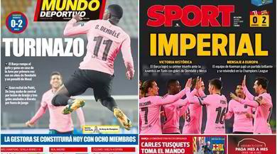 Siti e quotidiani spagnoli esaltano il Barcellona: