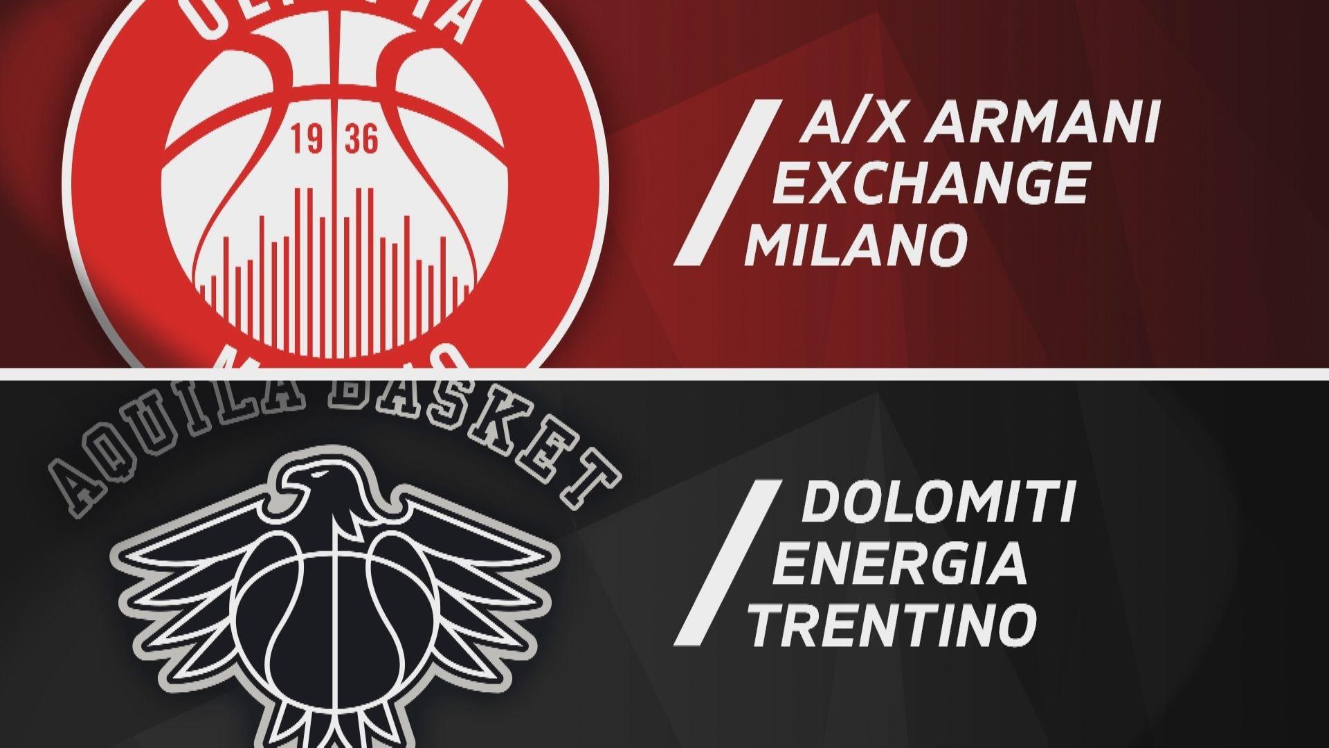 A X Armani Exchange Milano - Dolomiti Energia Trentino 82-75