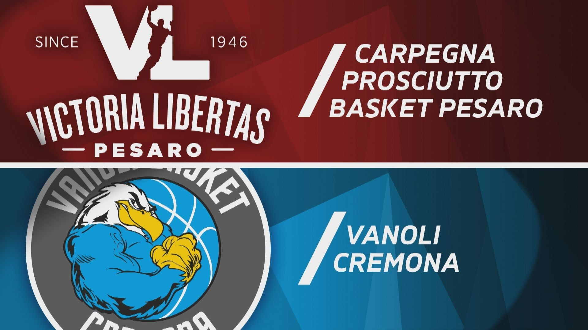 Carpegna Prosciutto Pesaro - Vanoli Basket Cremona 95-83