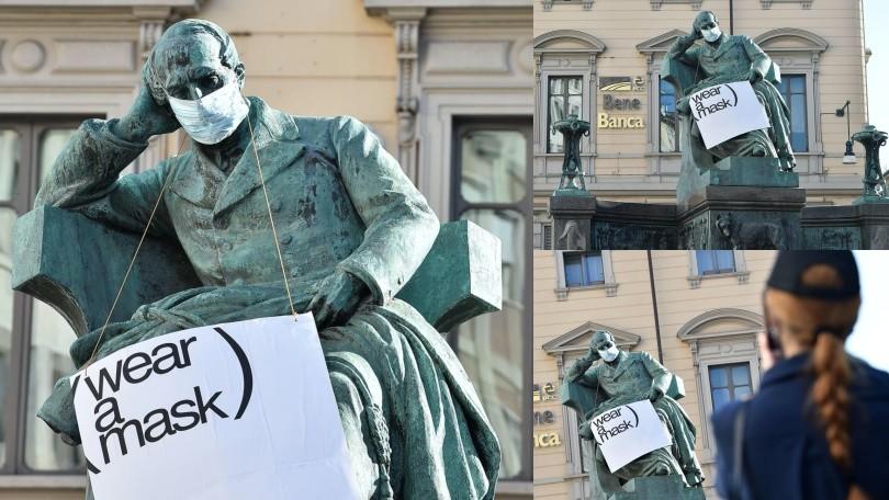Coronavirus, a Torino anche Mazzini invita a indossare la mascherina