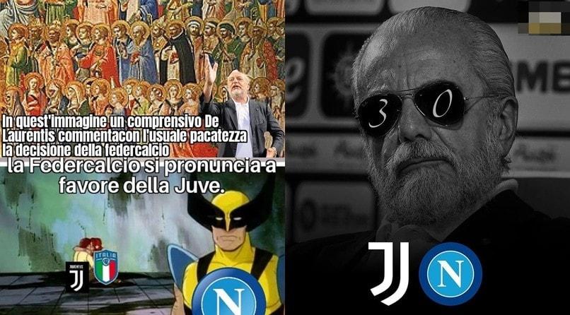 Juve-Napoli, social scatenati dopo la conferma del 3-0 a tavolino