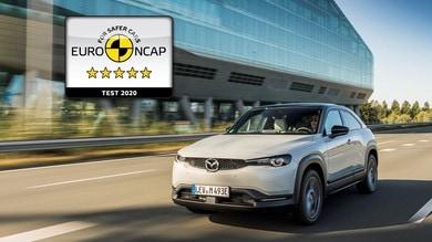 La Mazda MX-30 conquista 5 stelle nei test Euro NCAP