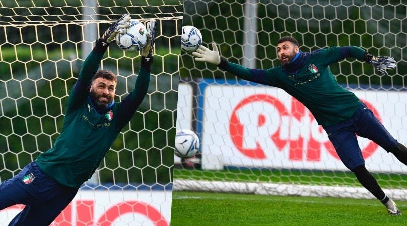 Italia, Sirigu vola in allenamento: che tuffi!