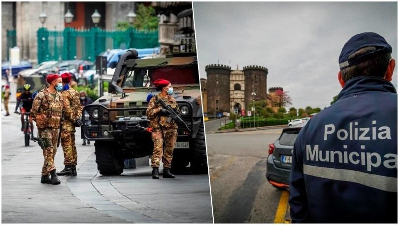 Napoli zona rossa: le forze dell'ordine controllano la città