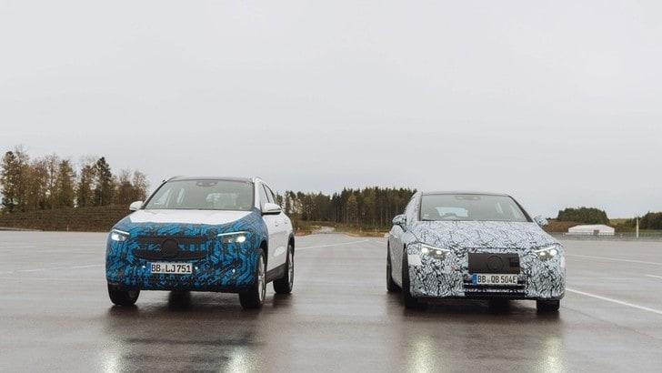 Mercedes EQA e EQS, il video anteprima del SUV e dell'ammiraglia elettrici