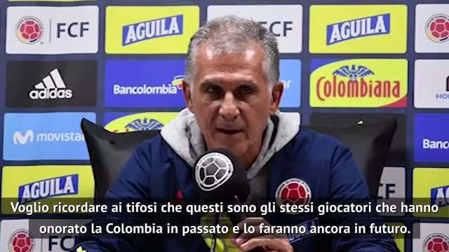 """Colombia umiliata, Queiroz: """"Non è colpa dei giocatori"""""""