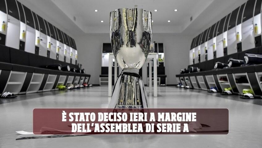 Juve-Napoli, la data e dove si giocherà la Supercoppa italiana