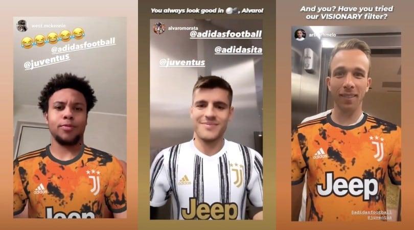 Morata e non solo: il filtro della Juve spopola su Instagram