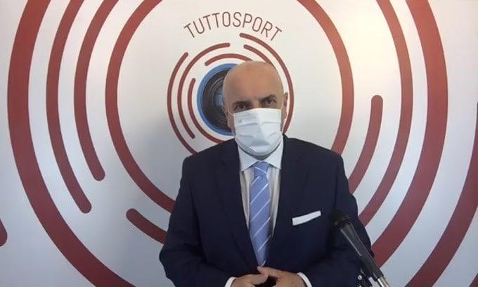 """Casa Tuttosport. Juve-Cagliari: Chiesa e Kulusevski in campo con CR7 e Morata. Godin fermato dal tampone positivo. Totti rivela: """"Mihajlovic mi voleva al Toro, mi sarebbe piaciuto, ma decisi di smettere per rispetto della gente"""""""
