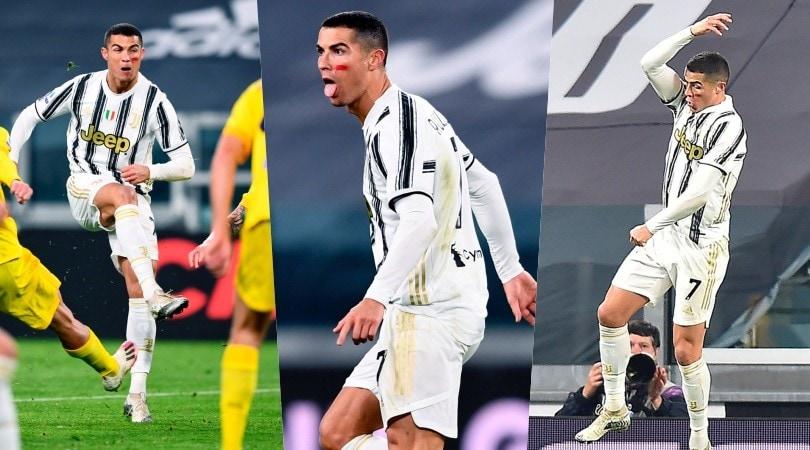 Juve, Ronaldo fenomeno: doppietta in 4' e linguaccia alla Del Piero