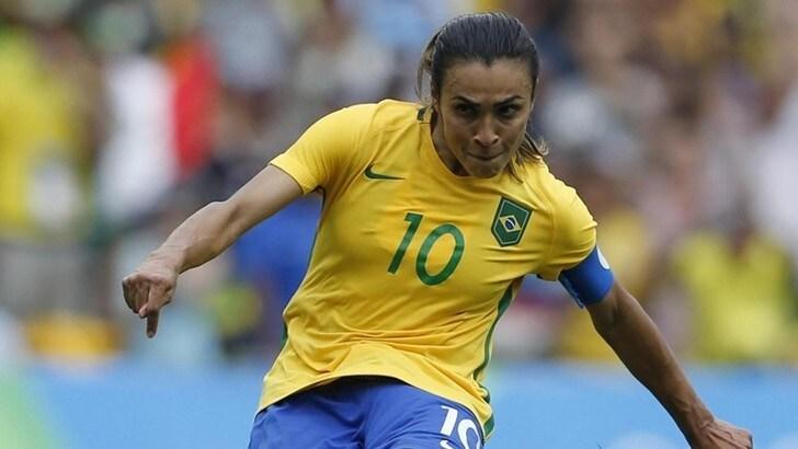 Brasile femminile, la stella Marta è positiva al Coronavirus