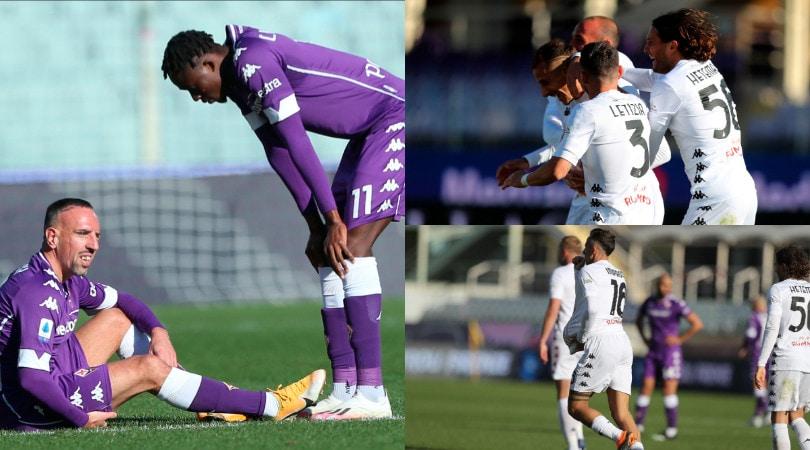 Fiorentina, ritorno amaro per Prandelli. Sconfitta con il Benevento e Ribery va ko
