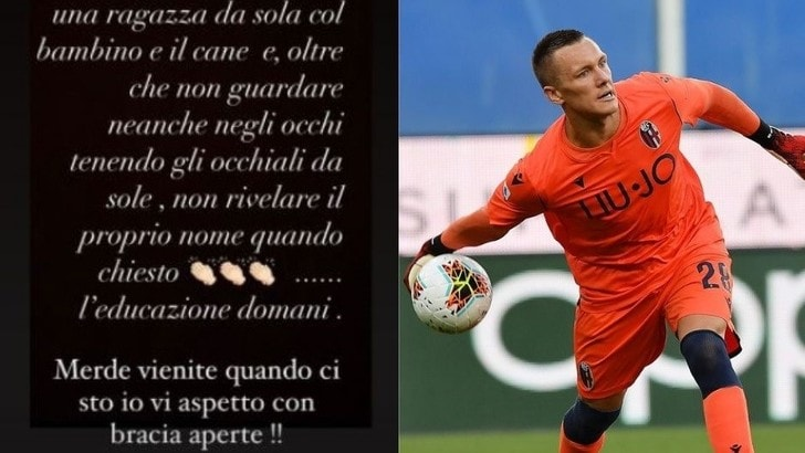 Bologna, Skorupski su tutte le furie: