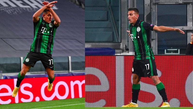 Champions, Uzuni esulta come Cristiano Ronaldo dopo il gol alla Juve