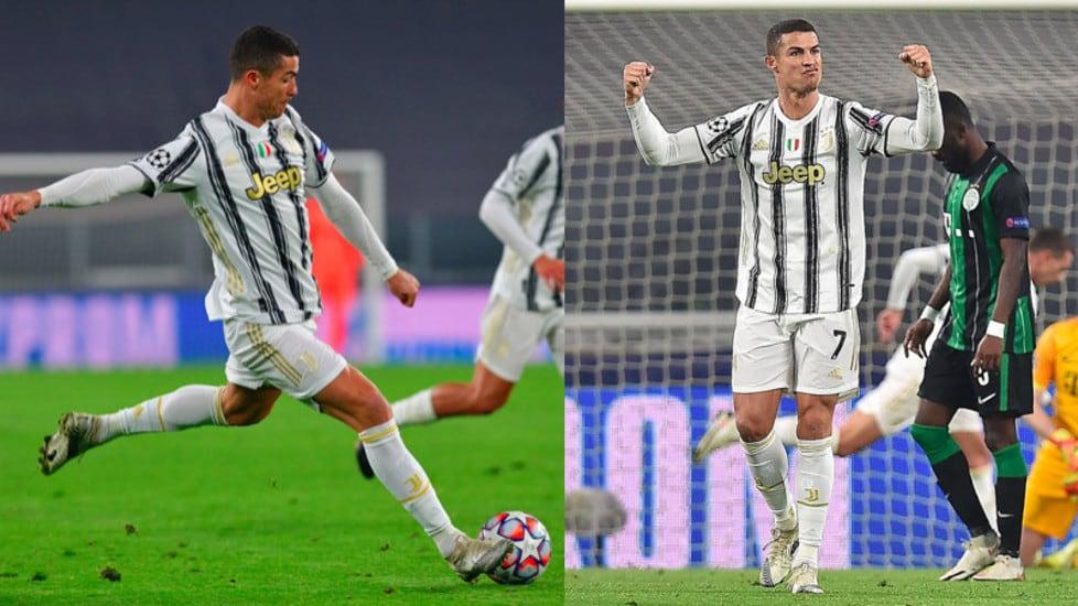 L'esultanza dell'attaccante bianconero dopo la rete in Champions League contro gli ungheresi