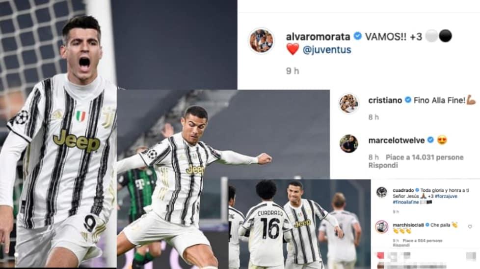 <p>Le reazioni su Instagram dei giocatori bianconeri dopo il successo contro il Ferencvaros che è valso la qualificazione al turno successivo in Europa</p>