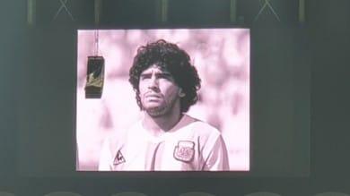 Inter-Real Madrid, il ricordo di Maradona prima dell'inizio