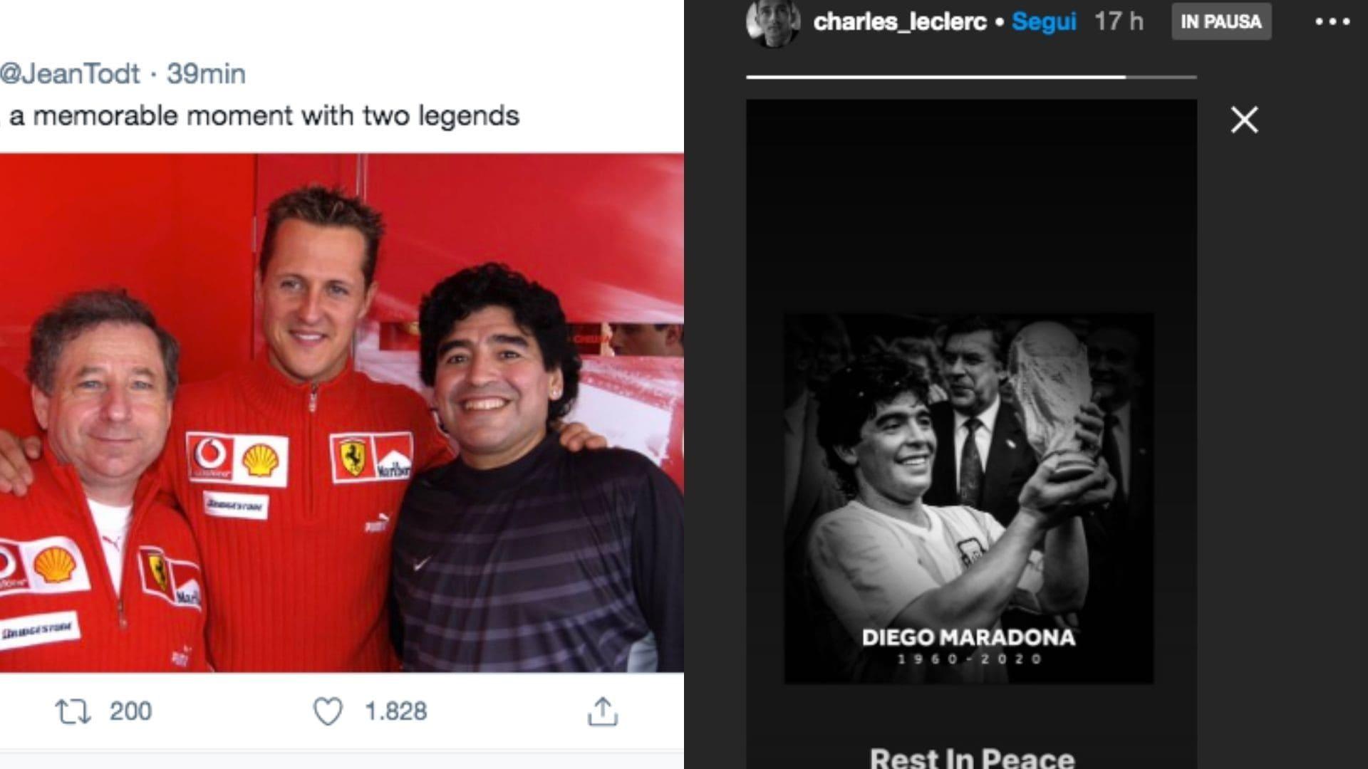 Addio Maradona: il saluto dei piloti di Formula 1 al Pibe de Oro