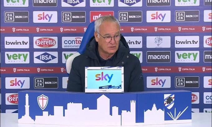"""Ranieri ironico: """"Stasera abbiamo fatto 4 gol.."""""""