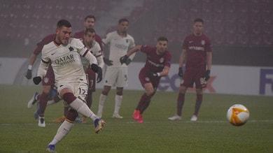 Cluj-Roma 0-2, il tabellino
