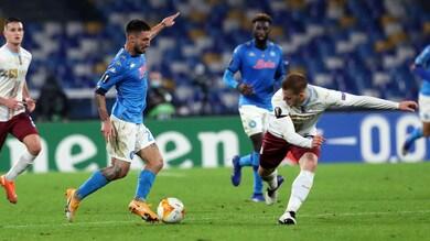 Napoli-Rijeka 2-0, il tabellino
