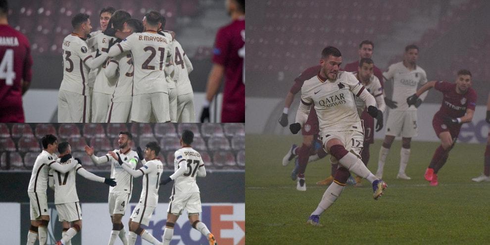 La Roma di Fonseca vola ai sedicesimi di Europa League. Cluj battuto 2-0