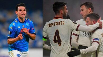 Napoli-Rijeka 2-0: Gattuso in testa al girone. Cluj-Roma 0-2: Fonseca ai sedicesimi