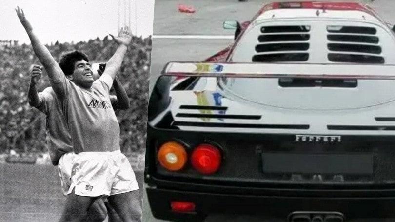 Maradona Con La Ferrari F40 O Testarossa Quel Regalo Segreto Dell 86