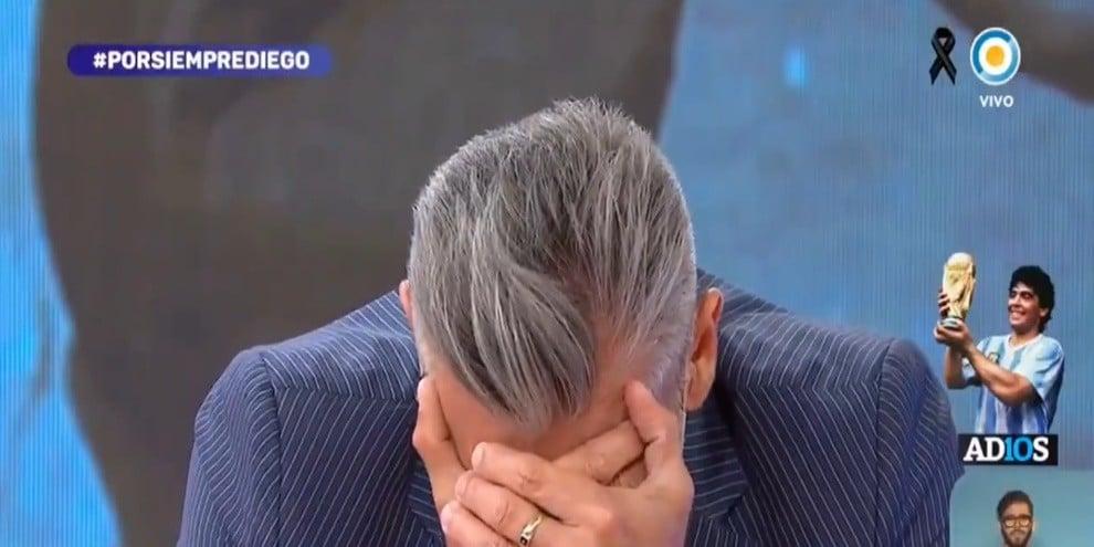 Maradona, Goycochea crolla in un pianto disperato