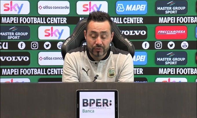 """De Zerbi: """"In campo con il solito atteggiamento. L'Inter rimane grande.."""""""