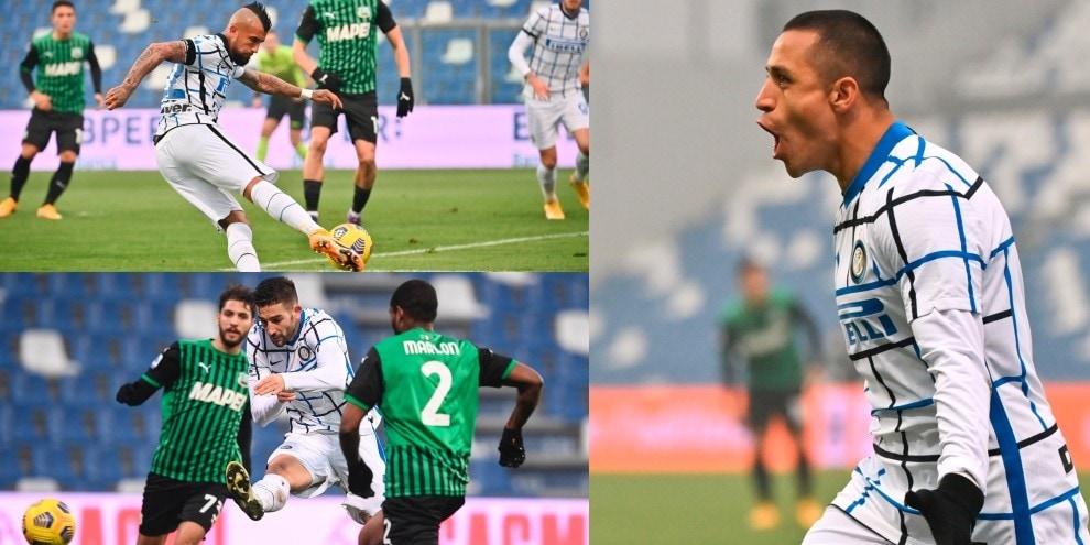 L'Inter è seconda: Sanchez, un autogol e Gagliardini per il tris