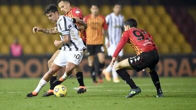 Benevento-Juventus 1-1, il tabellino
