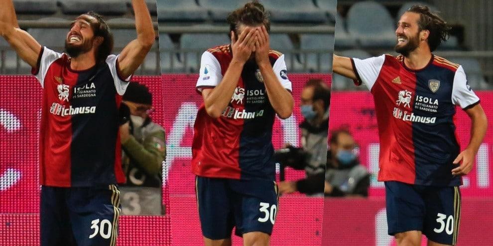 Pavoletti si commuove: di nuovo in gol dopo un anno e mezzo!