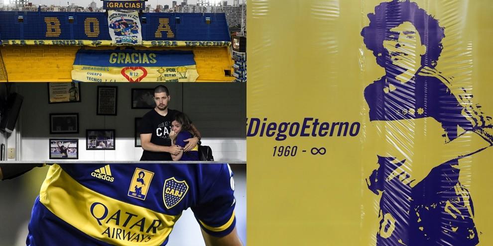 Maradona, Bombonera da brividi: l'omaggio del Boca sotto gli occhi di Dalma
